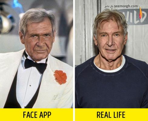 فیس اپ,عکس پیری,عکس فیس اپ بازیگران,پیری بازیگران,FAce app,هریسون فورد