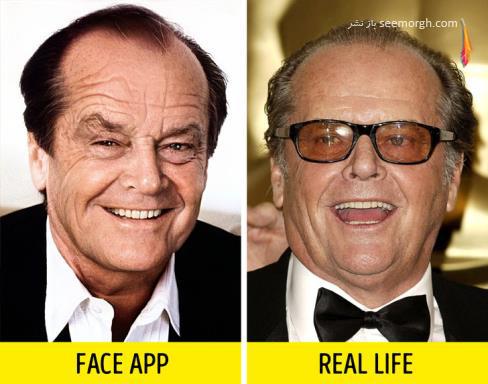 فیس اپ,عکس پیری,عکس فیس اپ بازیگران,پیری بازیگران,FAce app, جک نیکلسون
