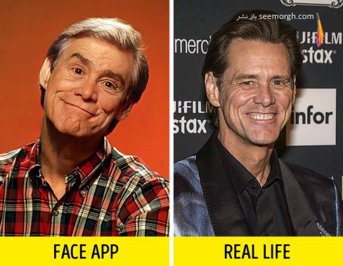 فیس اپ,عکس پیری,عکس فیس اپ بازیگران,پیری بازیگران,FAce app,جیم کری