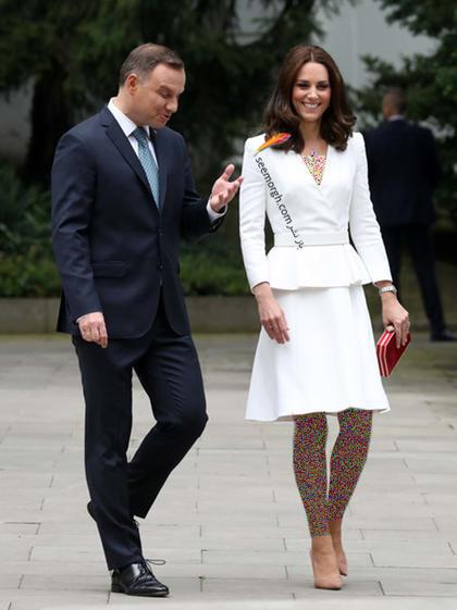 کت و دامن سفید به سبک کیت میدلتون Kate Middleton,کت و دامن,کیت میدلتون,مدل کت و دامن,کت و دامن کیت میدلتون,مدل کت و دامن به سبک کیت میدلتون
