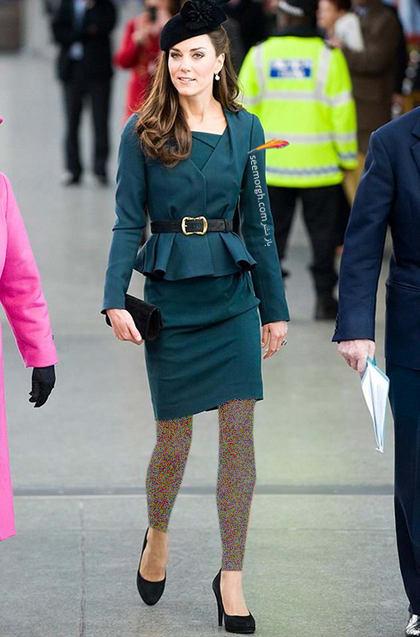کت و دامن سبز یشمی به سبک کیت میدلتون Kate Middleton,کت و دامن,کیت میدلتون,مدل کت و دامن,کت و دامن کیت میدلتون,مدل کت و دامن به سبک کیت میدلتون