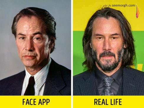فیس اپ,عکس پیری,عکس فیس اپ بازیگران,پیری بازیگران,FAce app,