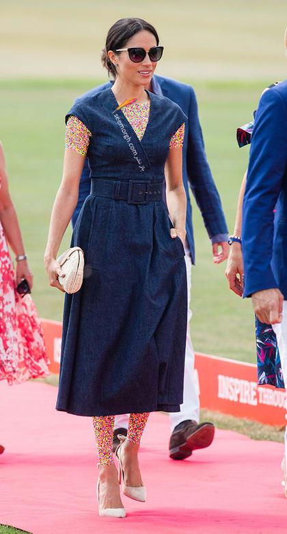 13 مدل لباس برتر مگان مارکل بعد از ازدواج با پرنس هری,پیراهن جین مگان مارکل Meghan Merkle از برند کارولینا هررا Caroline Herrera