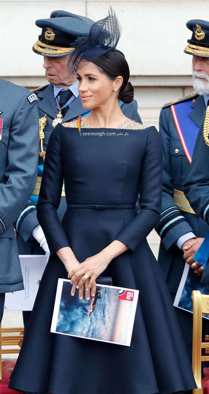 13 مدل لباس برتر مگان مارکل بعد از ازدواج با پرنس هری,لباس مشکی مگان مارکل Meghan Markle از برند ژیوانشی Givenchy