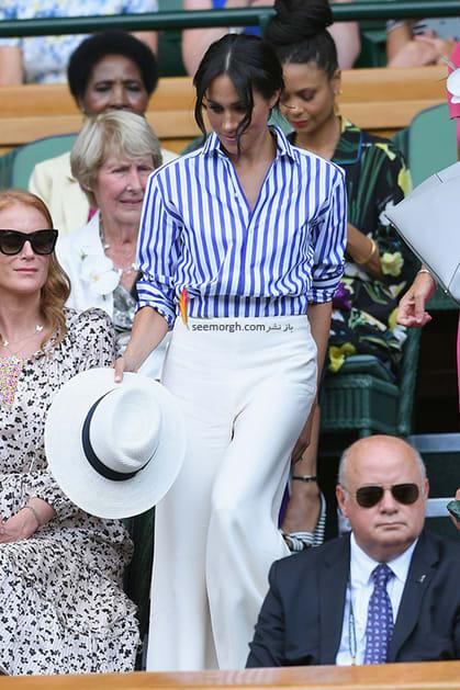 13 مدل لباس برتر مگان مارکل بعد از ازدواج با پرنس هری,بلوز و شلوار مگان مارکل Meghan Markle