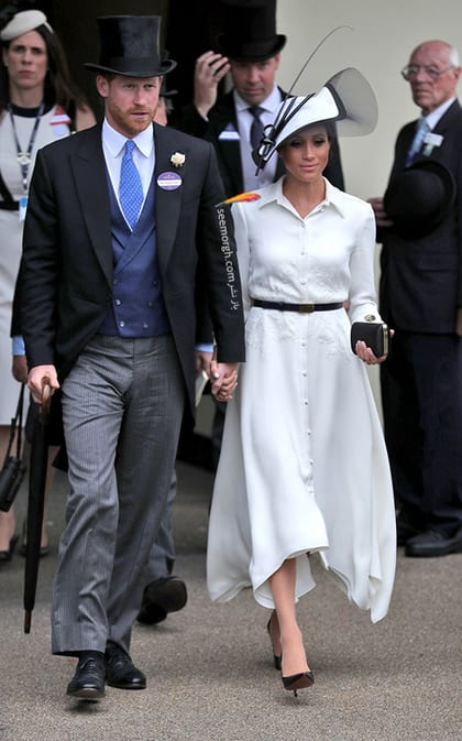 13 مدل لباس برتر مگان مارکل بعد از ازدواج با پرنس هری,لباس سفید مگان مارکل Meghan Markle