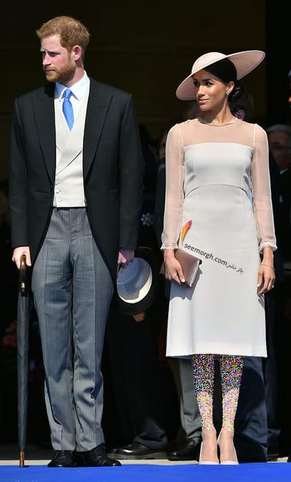 13 مدل لباس برتر مگان مارکل بعد از ازدواج با پرنس هری,لباس سفید مگان مارکل Meghan Markle در تولد 70 سالگی پرنس چارلز