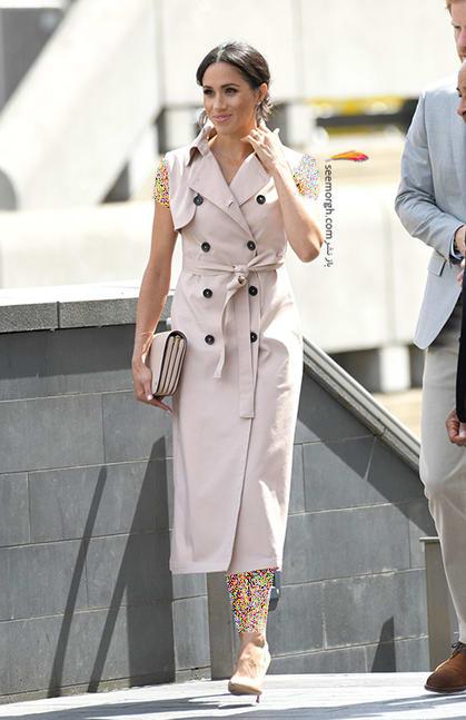 13 مدل لباس برتر مگان مارکل بعد از ازدواج با پرنس هری,پیراهن بدون آستین مگان مارکل Meghan Markle