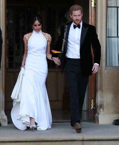 13 مدل لباس برتر مگان مارکل بعد از ازدواج با پرنس هری,لباس سفید مگان مارکل Meghan Markle از طراحی های استلا مک کارتی Stella McCartney
