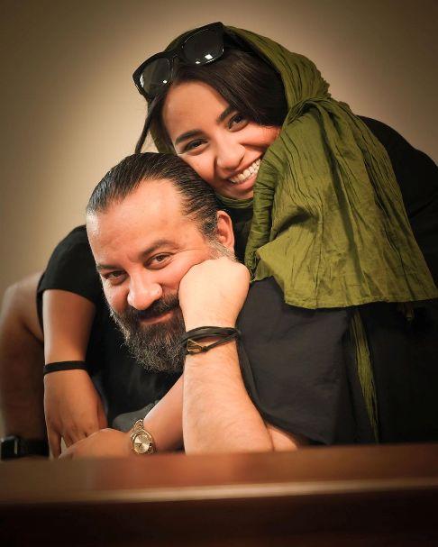 عکس مهراب قاسم خانی و دخترش نیروانا