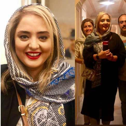 رنگ موی جدید نرگس محمدی