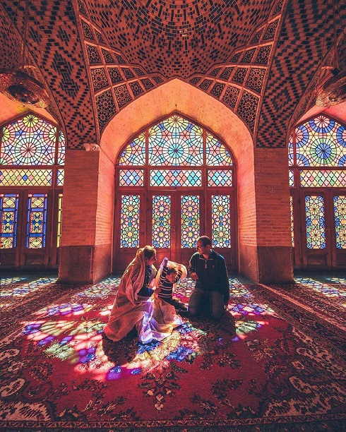 عکاسی هنری از مساجد,عکس اینستاگرامی مساجد ایران,عکاس چینی در ایران,عکس مسجد,مد اینستاگرام