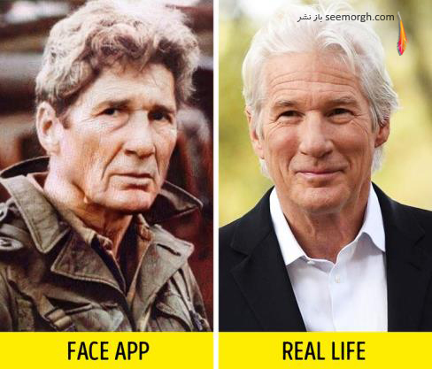 فیس اپ,عکس پیری,عکس فیس اپ بازیگران,پیری بازیگران,FAce app,ریچارد گر