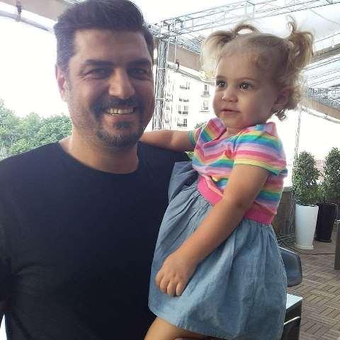 عکس سام درخشانی و دخترش برکه