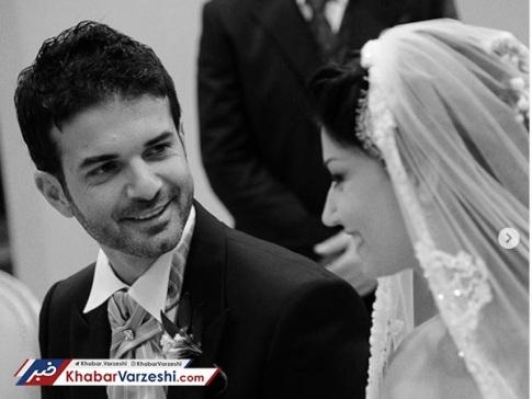 مراسم ازدواج استراماچونی و همسرش