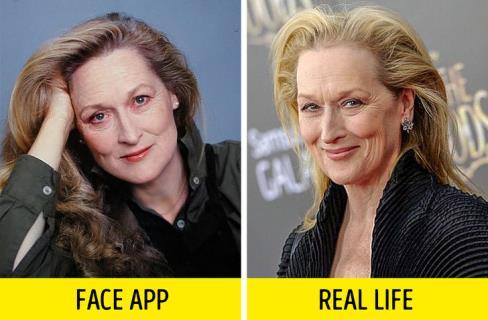 فیس اپ,عکس پیری,عکس فیس اپ بازیگران,پیری بازیگران,FAce app,مریل استریپ