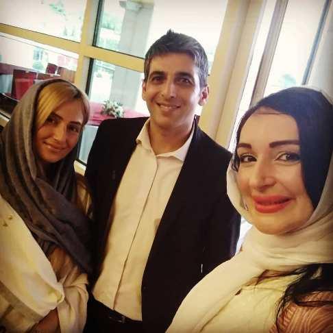 سلفی مژگان ترانه با حمید گودرزی و همسر دومش