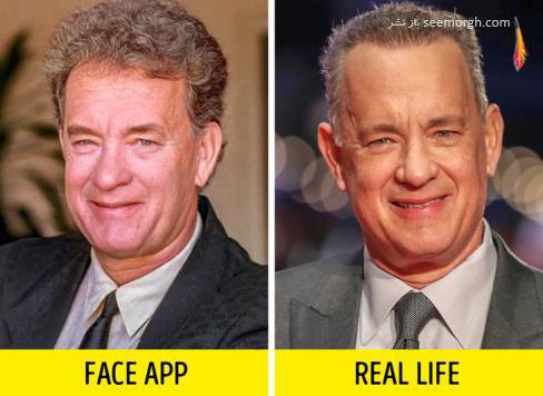 فیس اپ,عکس پیری,عکس فیس اپ بازیگران,پیری بازیگران,FAce app,تام هنکس
