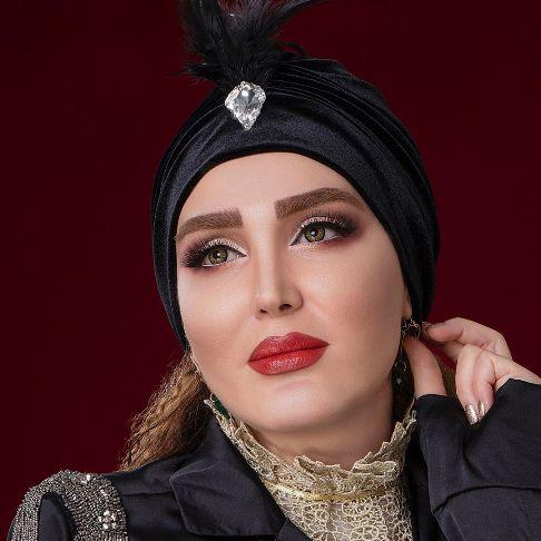 عکس زهره فکور صبور به عنوان مدل آرایشی