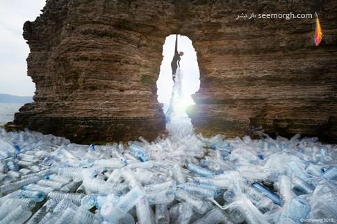 هنر محیطی,محیط زیست,پلاستیک,فاجعه پلاستیک,آلودگی پلاستیک,Benjamin Von Wong