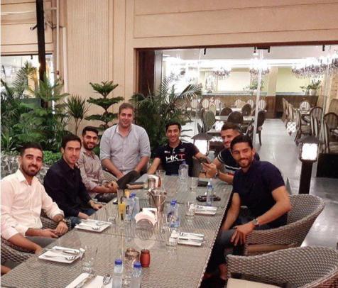 استقلالی ها در رستوران خسرو حیدری