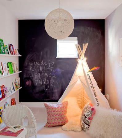 رنگ کردن دیوار به سبک تخته سیاه,پنهان کردن نواقص و ایرادهای دیوار با 12 پیشنهاد ارزان قیمت!