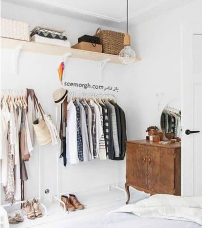 اضافه کردن یک قفسه لباس به سبک مغازه ها,پنهان کردن نواقص و ایرادهای دیوار با 12 پیشنهاد ارزان قیمت!