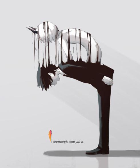 تصویرسازی,نقاشی های تلخ,تصویرسازی های تاریک,هنرمند ژاپنی,Avogado68