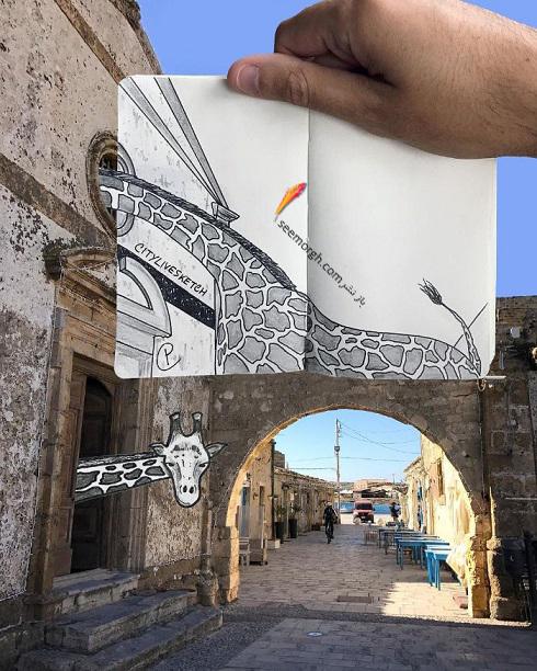 ترکیب عکس و نقاشی