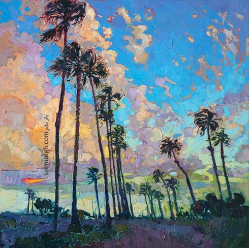 نقاشی های پرتحرک و رنگارنگ هنرمند جوان امریکایی