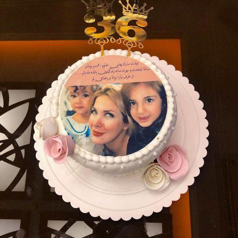 کیک تولد همسر رضا صادقی