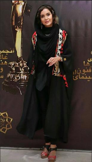 مدل مانتو,مدل مانتو در جشن خانه سینما,مدل مانتو سامیه لک در بیست و یکمین جشن خانه سینما