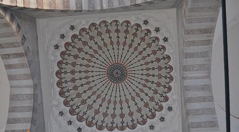تزئینات داخلی مسجد سلیمانیه استانبول