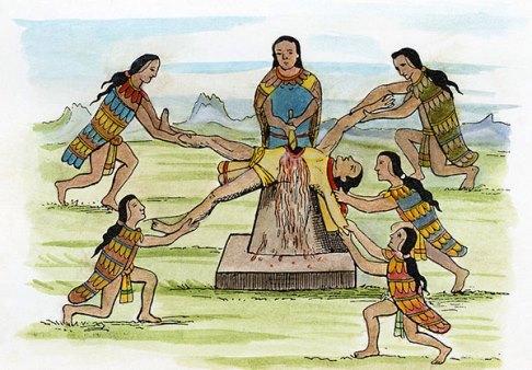 سنت های مذهبی,سنت های ترسناک,رسوم مذهبی وحشتناک,آداب و رسوم خونین,قربانی کردن انسان,آزتک ها