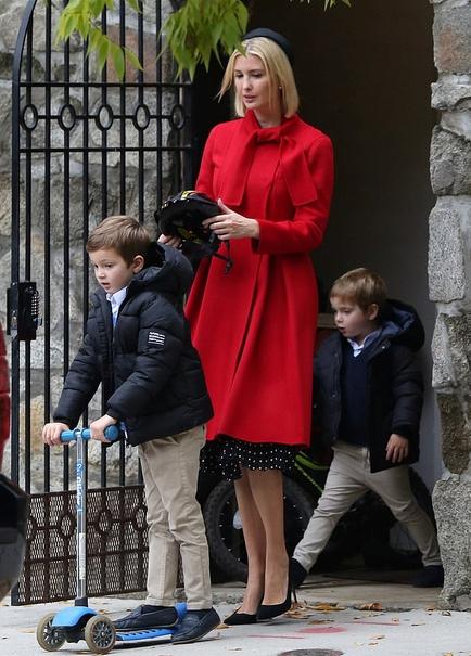 توجه ایوانکا ترامپ به امنیت فرزندانش