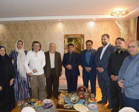 مسئولان در خانه لاکچری رضا رویگری و همسرش! عکس