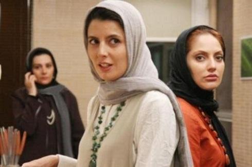 لیلا حاتمی و مهناز افشار در فیلم «سعادت آباد»