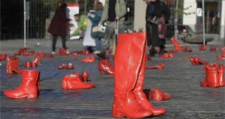 چیدمان هنری برای مبارزه با خشونت علیه زنان