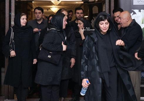 لیلا حاتمی در مراسم یادبود مظاهر مصفا