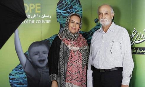محمود پاک نیت و همسرش مهوش صبرکن