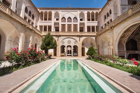 خانه تاریخی کاشان,شاهکار معماری ایران,معاری خانه قدیمی ایرانی