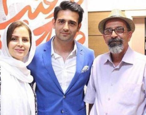 امیرحسین آرمان در کنار پدر و مادرش