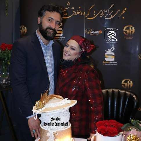 بهاره رهنما در کنار همسرش