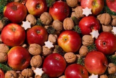 تزیین سیب و پرتقال برای شب یلدا!,تزیین سیب قرمز برای شب یلدا