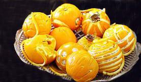 تزیین سیب و پرتقال برای شب یلدا!,تزیین شب یلدا با پرتقال