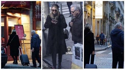 مهران مدیری با یک زن در پاریس