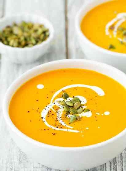 طرز تهیه سوپ کدو حلوایی با شیر