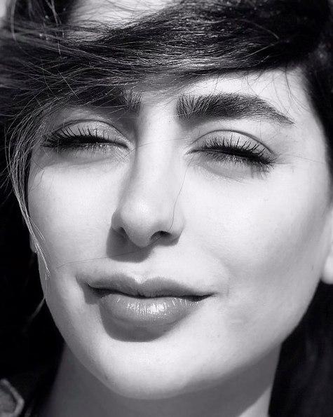 عکس هنری از چهره سمانه پاکدل
