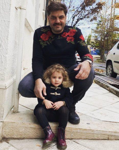 سام درخشانی و دخترش برکه
