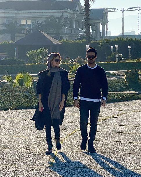 عکس جدید شاهرخ استخری و همسرش